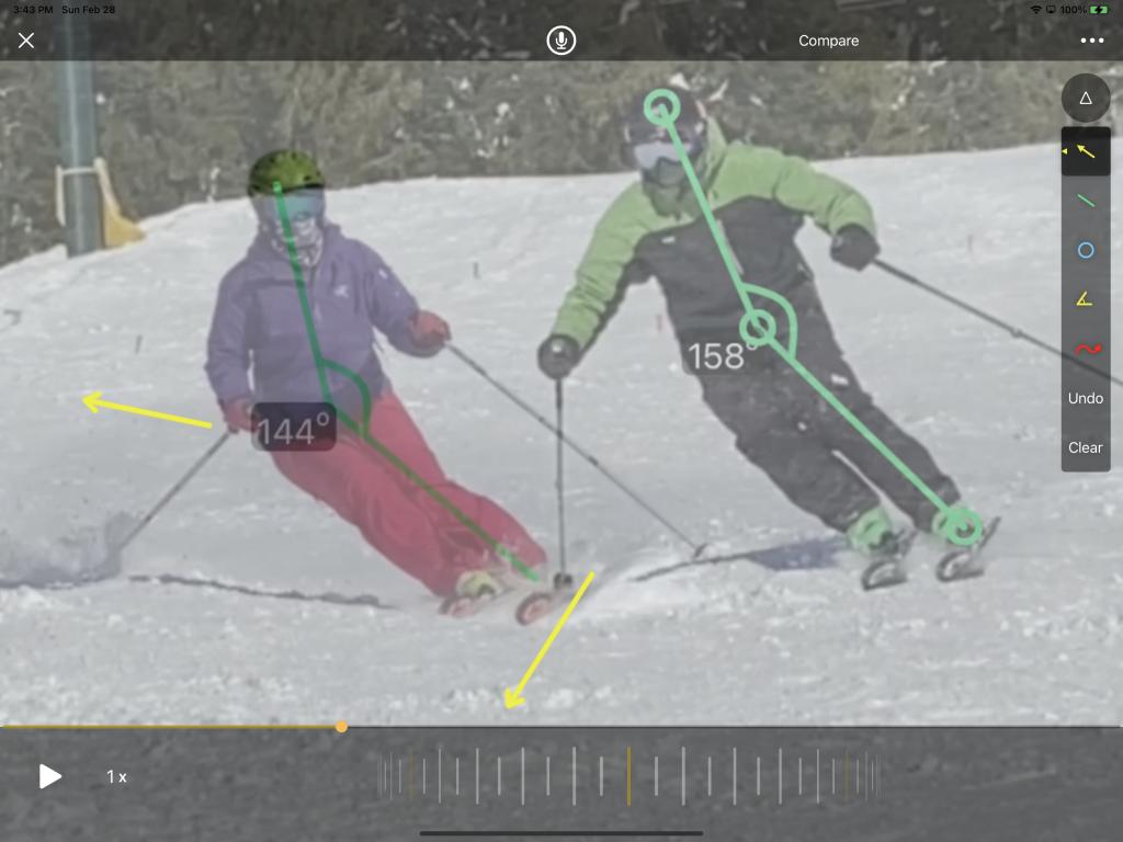 Private mobile ski coaching